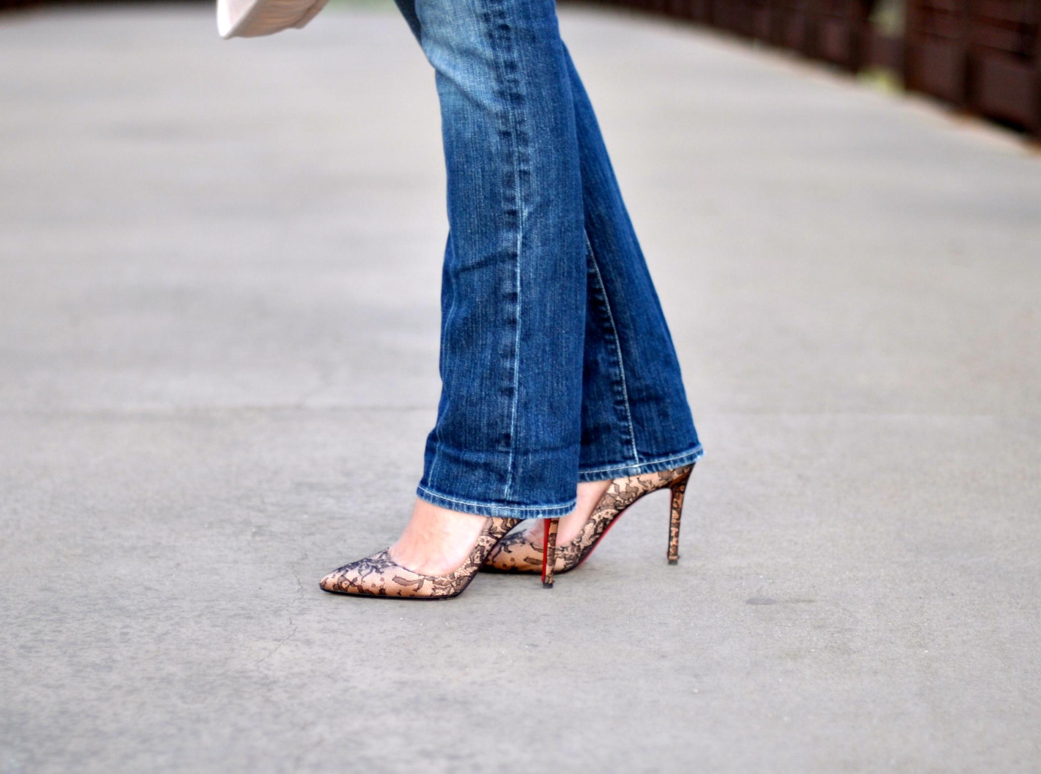 Chanel handbag, Christian louboutin Shoes, forever 21 tank, Moschino sweater, 7 for all mankind jeans, Bottega Veneta Sunglasses, Fashion blogger, Bebe earrings, old navy tutu shirt