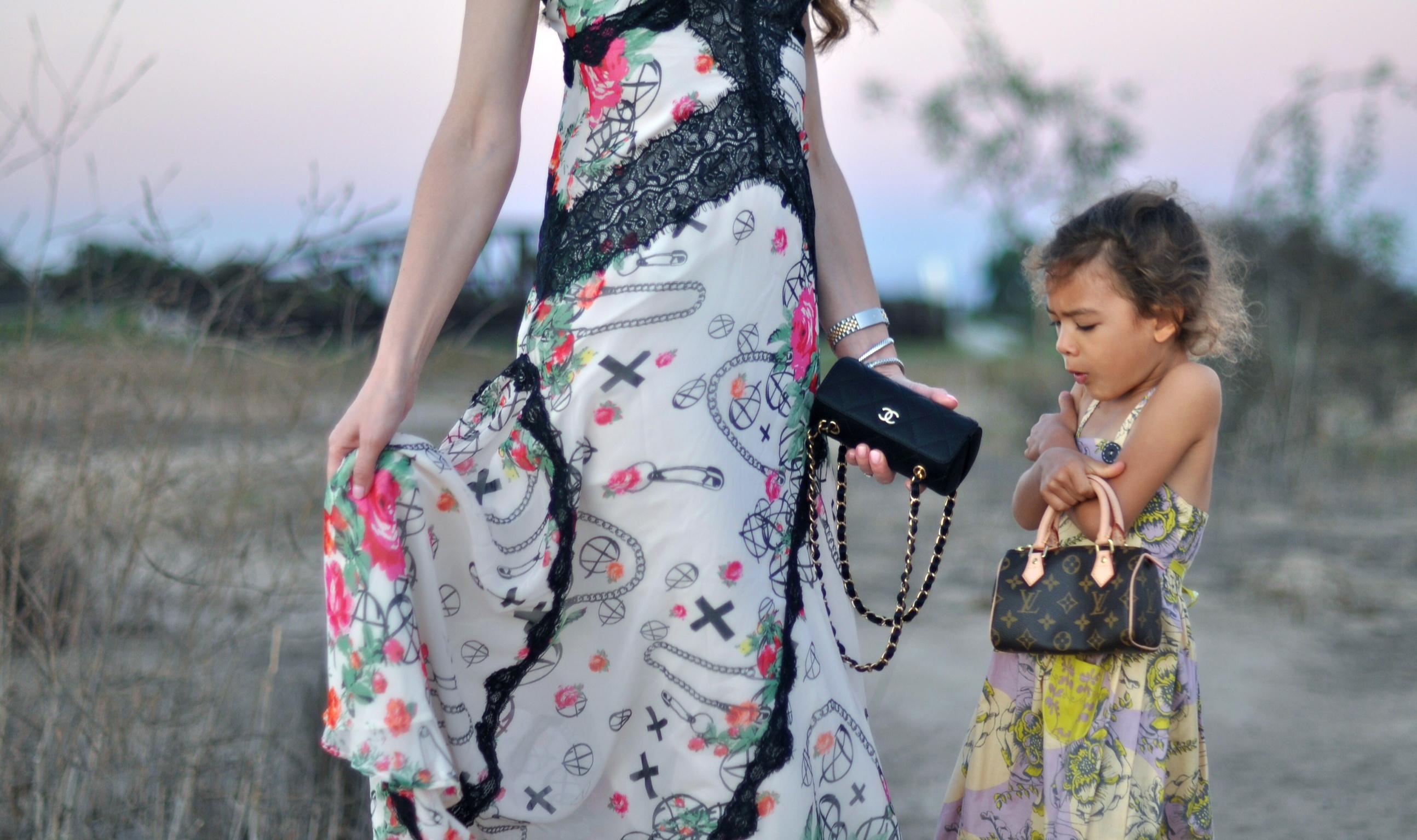 Chanel handbag, Louis Vuitton Handbag, fashion blogger, nasty gal dress, Manolo Blahnik shoes, H & M earrings, Dior Sunglasses, Moxie & Mabel dress, haute hippie sweater