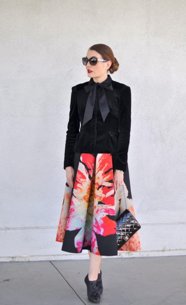 DVF jacket, Valentino Boots, Chanel Handbag, Dior Sunglasses, Fashion blog, OOTD,