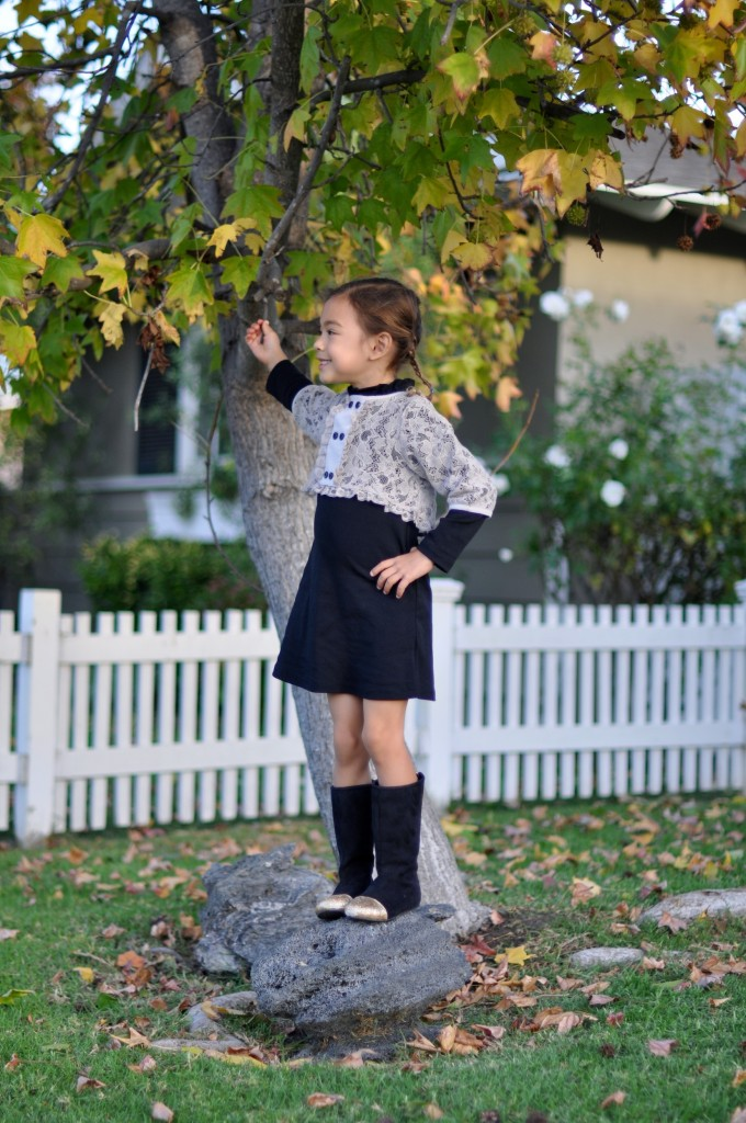 Little Trendsetters crop top lace dress, Little Trendsetter sunglasses, Joyfollie boots, high heels and tutus, fashion blogger
