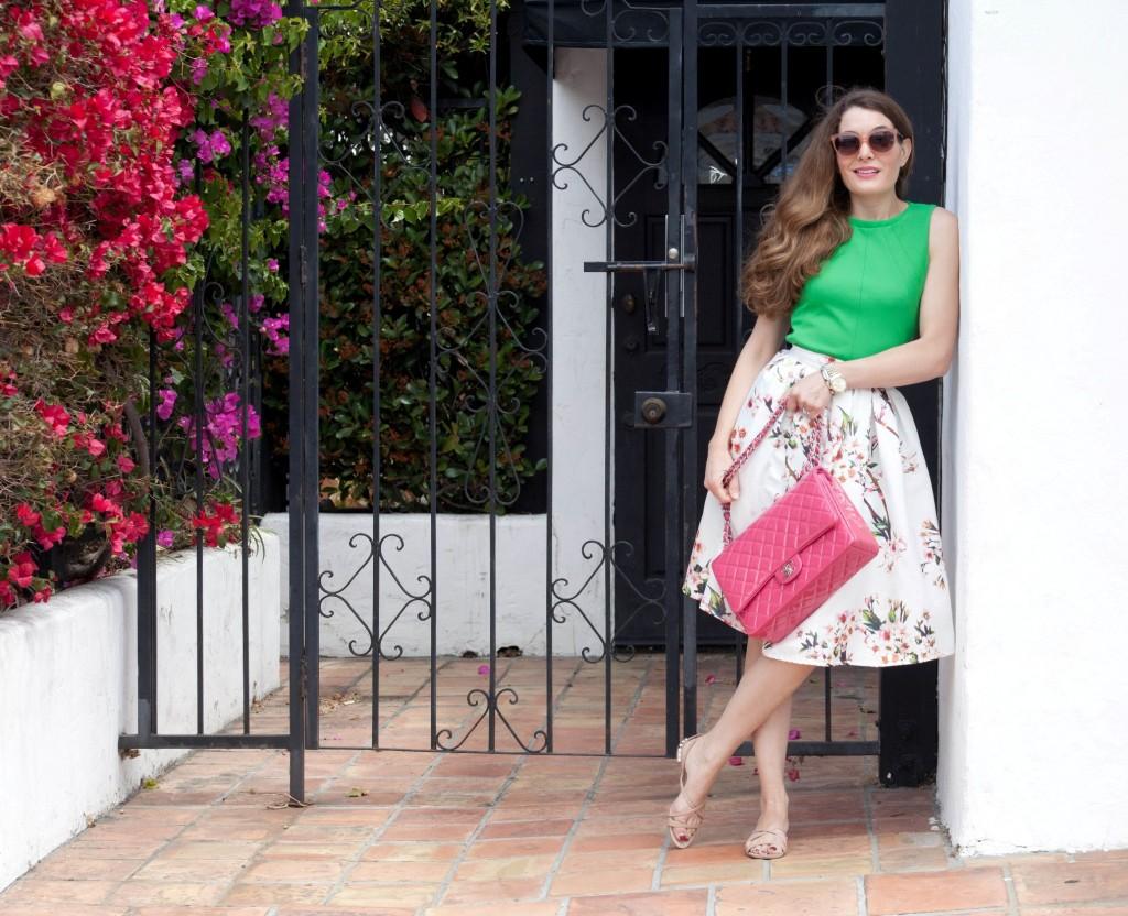 Sheinside skirt Chanel bag